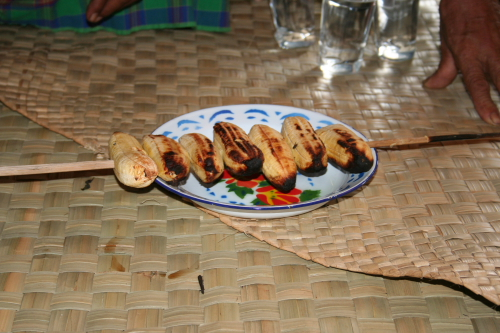 Grilled bananas are delicious!