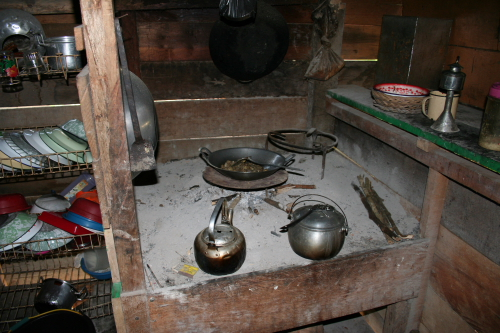 Wood is used to cook with.