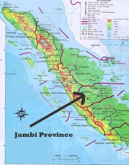 Image result for Sumatra, map, Jambi province