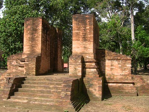 "One of the ancient Hindu temple remnants in the area where the Batin IX were said to have originated. ""Gedong II Temple"""