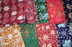 These are just a few of the assortment of batik cloth that is on display at this home business.