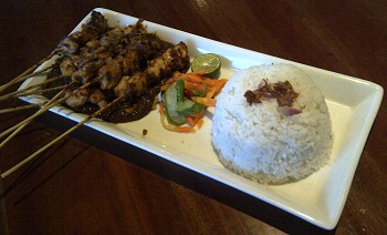 Sate Ayam with Nasi Putih(white rice)