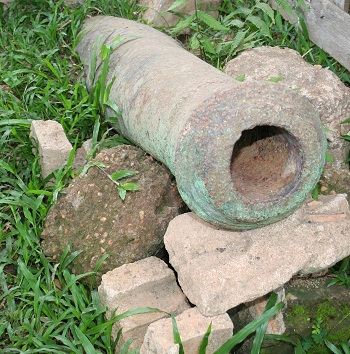 "Cannon Named ""Raden Panjang""Located at the front of the yard at elementary school #119 (SD N 119)."