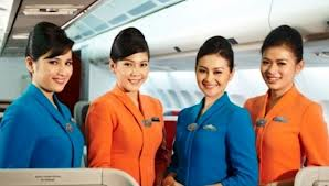 Young Airline Stewardesses It's almost unheard of to see a person in a service oriented position over the age of 30.