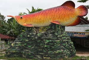 Ikan Keloso (or Kelisa) This is a 15' long fish monument that is located at the entrance leading to the government offices in Sarolangun (Kantor Bupati)