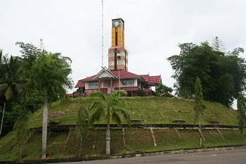 Clock Bell Tower in the City of Bangko
