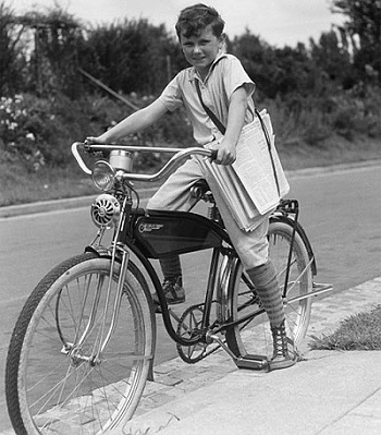 Paper Boy in the USA, from the 1950-60s.