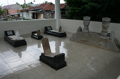 Grave of Pangeran (prince) Wiro Kusumo is on the far right. Picture taken on June 21, 2014